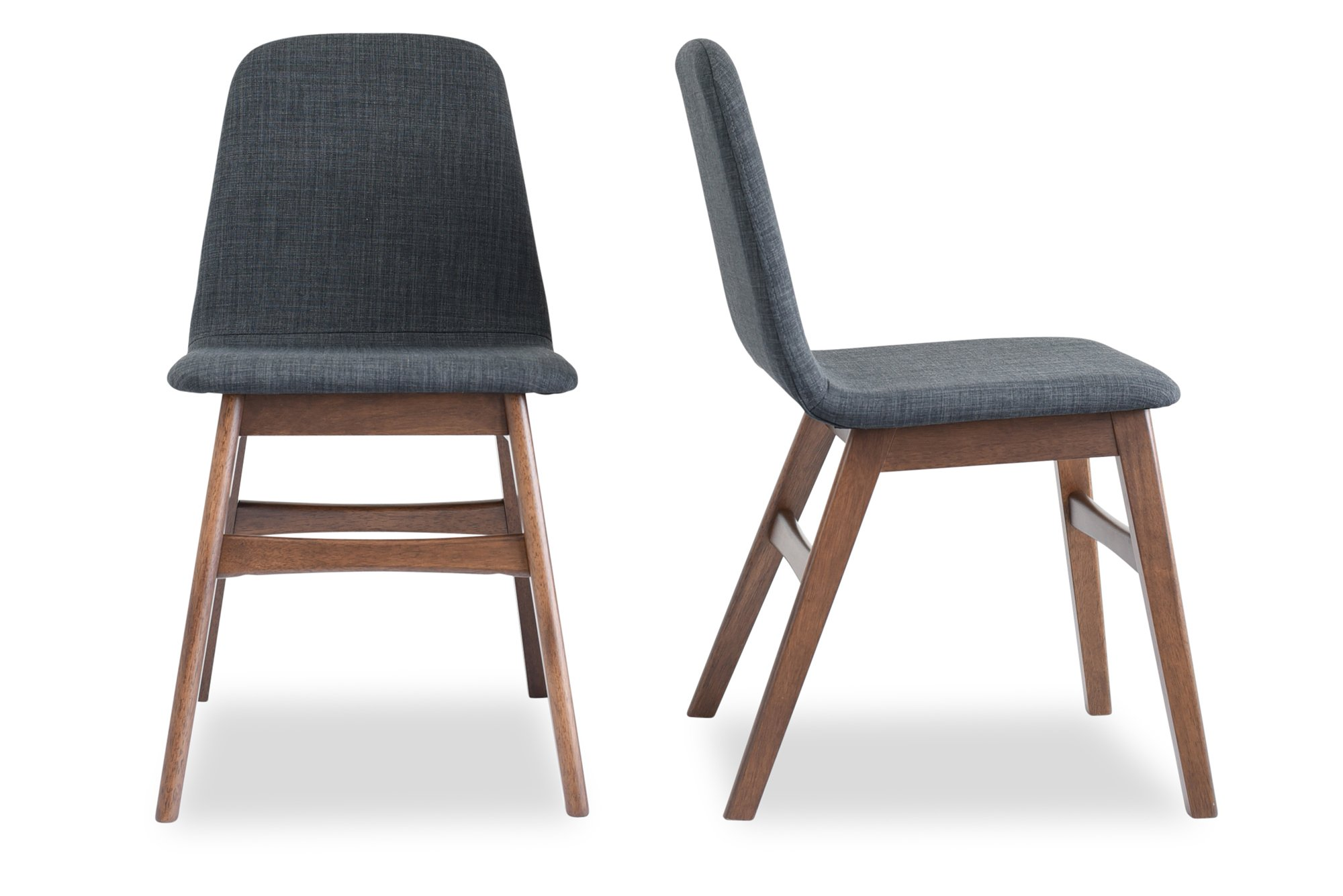 Modern Grey Fabric Dining Chairs: Edloe Finch EF-Z4-DC008 Dixie Mid Century Modern