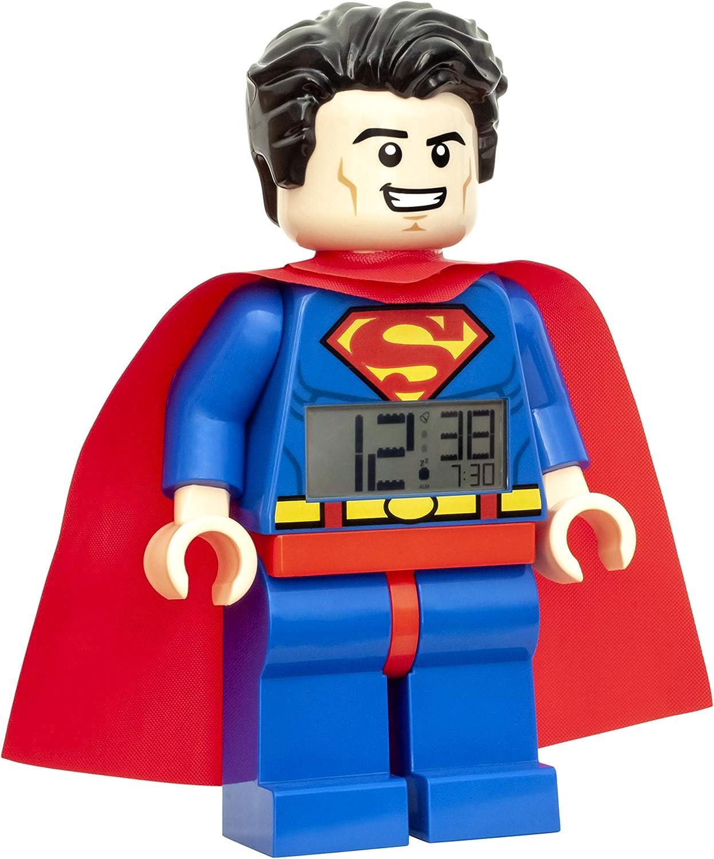 LEGO Superman Alarm Clock 9 Inches Blue