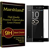 Marshland® Tempered Glass Black 3D Full Curve Perfect Fit Screen Protector For Sony Xperia XZ