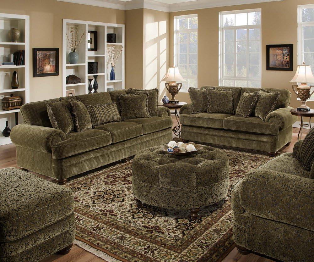 Amazon Com Simmons Lake Charles Chenille Sofa Love Seat Chair