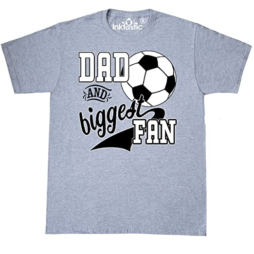 c577ca731 inktastic - Dad and Biggest Fan- T-Shirt XXXX-Large Athletic Heather 2c194