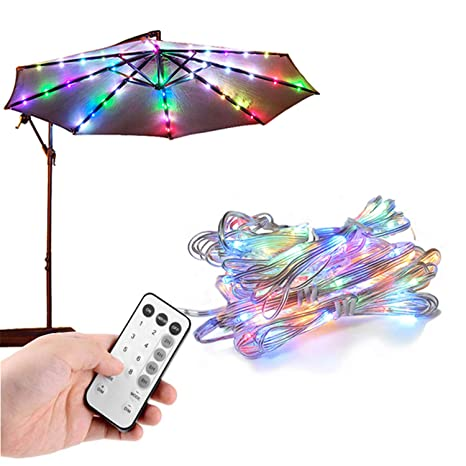 Umbrella Lights Patio Outdoor Umbrella Waterproof Led Rope Lights