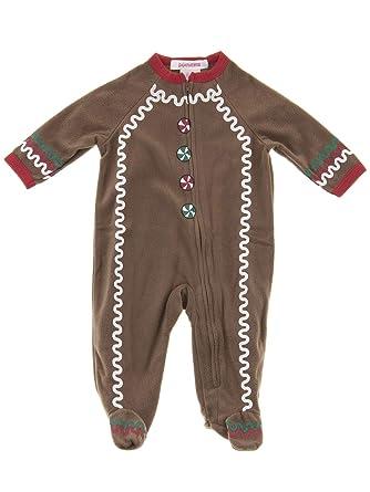 8ae0750824 Pajamarama Baby Boys  Christmas Gingerbread Man Footed Pajamas 3-6 Months