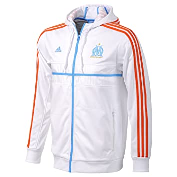 a4e10a2f2c5e Jacket Adidas football Olympique Marseille OM size S  Amazon.co.uk  Sports    Outdoors