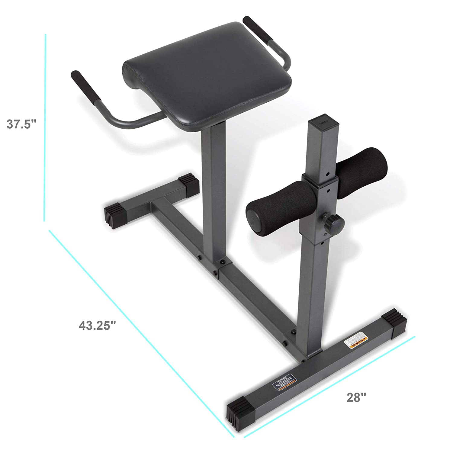 Amazon.com : Marcy Adjustable Hyperextension Roman Chair / Exercise Hyper  Bench JD-3.1 : Abdominal Trainers : Sports & Outdoors