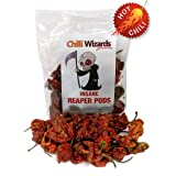 Genuine 100% Carolina Reaper Pods 10g - Worlds Hottest Chilli