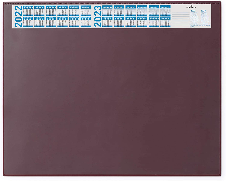 DURABLE Schreibunterlage PVC Schreibtisch-Unterlage Folie 50 x 65 cm transparent