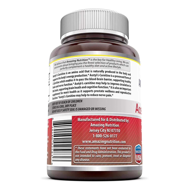 7baec8e41b555 Amazing Formulas Acetyl LCarnitine - 500 Mg
