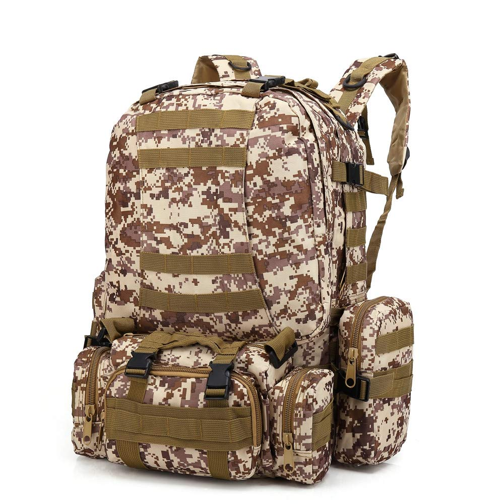 6680fc44c14e Amazon.com: YEZIJIN Outdoor 55L Molle Military Tactical Bag Camping ...