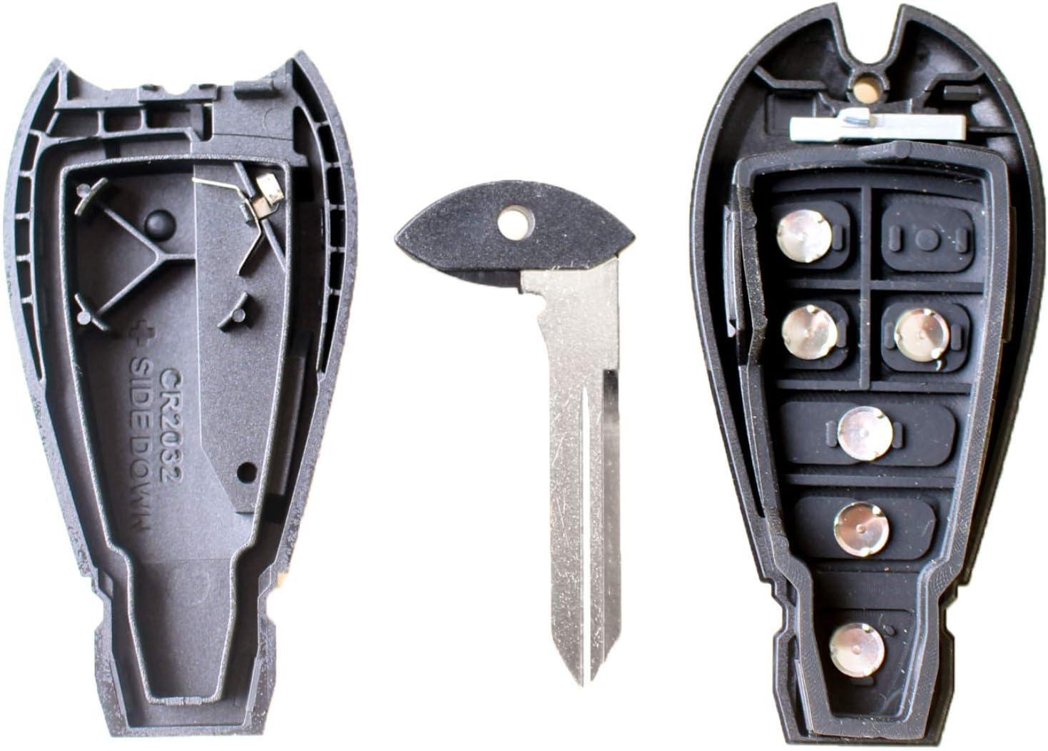 5 Blank 1panic 6 Buttons Remote Control Key Shell For Elektronik