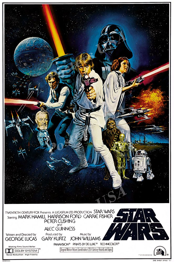 "Posters USA - Star Wars Original Episode IV A New Hope Movie Poster GLOSSY FINISH - FIL328 (24"" x 36"" (61cm x 91.5cm))"