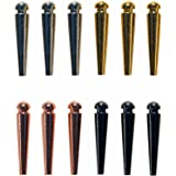 WE Games Premium Easy Grip Cribbage Pegs with a Tapered Design & Velvet Pouch - Set of 12 (3 Gold, 3 Silver, 3 Black, 3 Copper)