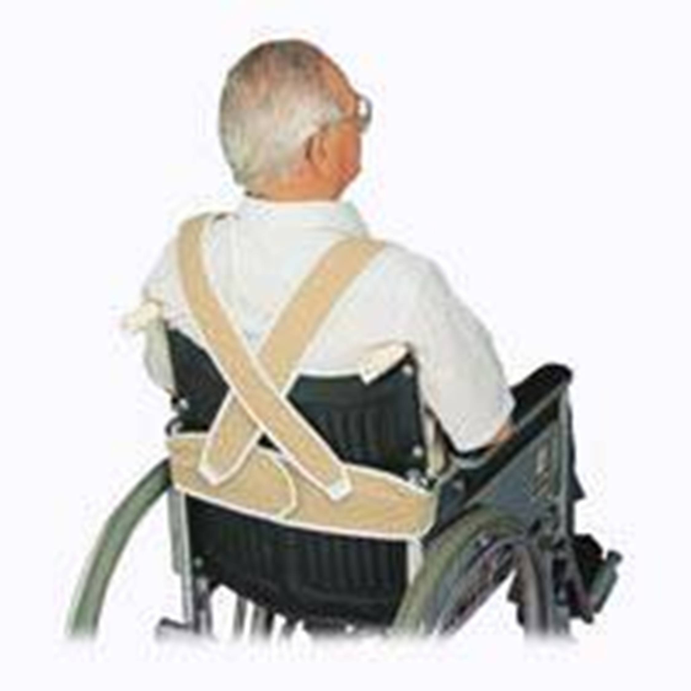 Posey 3656M Torso Support For Wheelchair, Medium