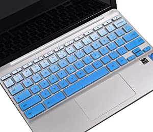 HP Chromebook 14 inch Keyboard Cover for HP Chromebook 14 G2 G3 G4 G5/HP Chromebook 14-db, HP Chromebook 14-ca, HP Chromebook 14-ak Series/HP Chromebook 11 G2 G3 G4 G5 G6 EE Keyboard Skin, Ombre Blue