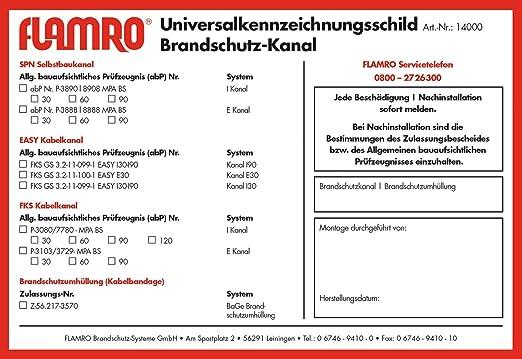 Brandschutzt/ür freil rot//wei/ß//schwarz B 29.7 x H 10.5 cm smartboxpro 245142110 Brandschutzschild