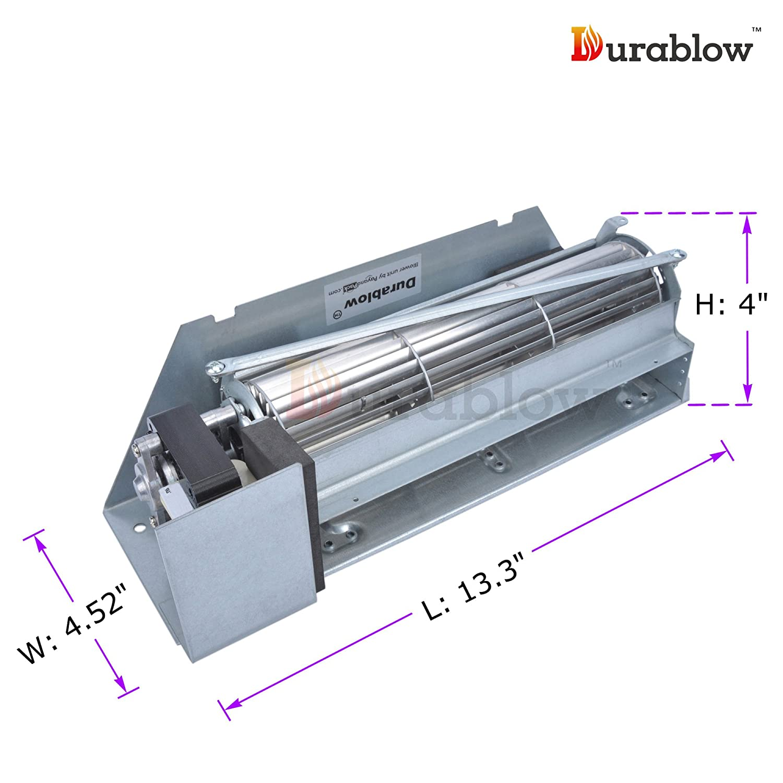 amazon com durablow mfb002 c fbk 250 replacement fireplace blower