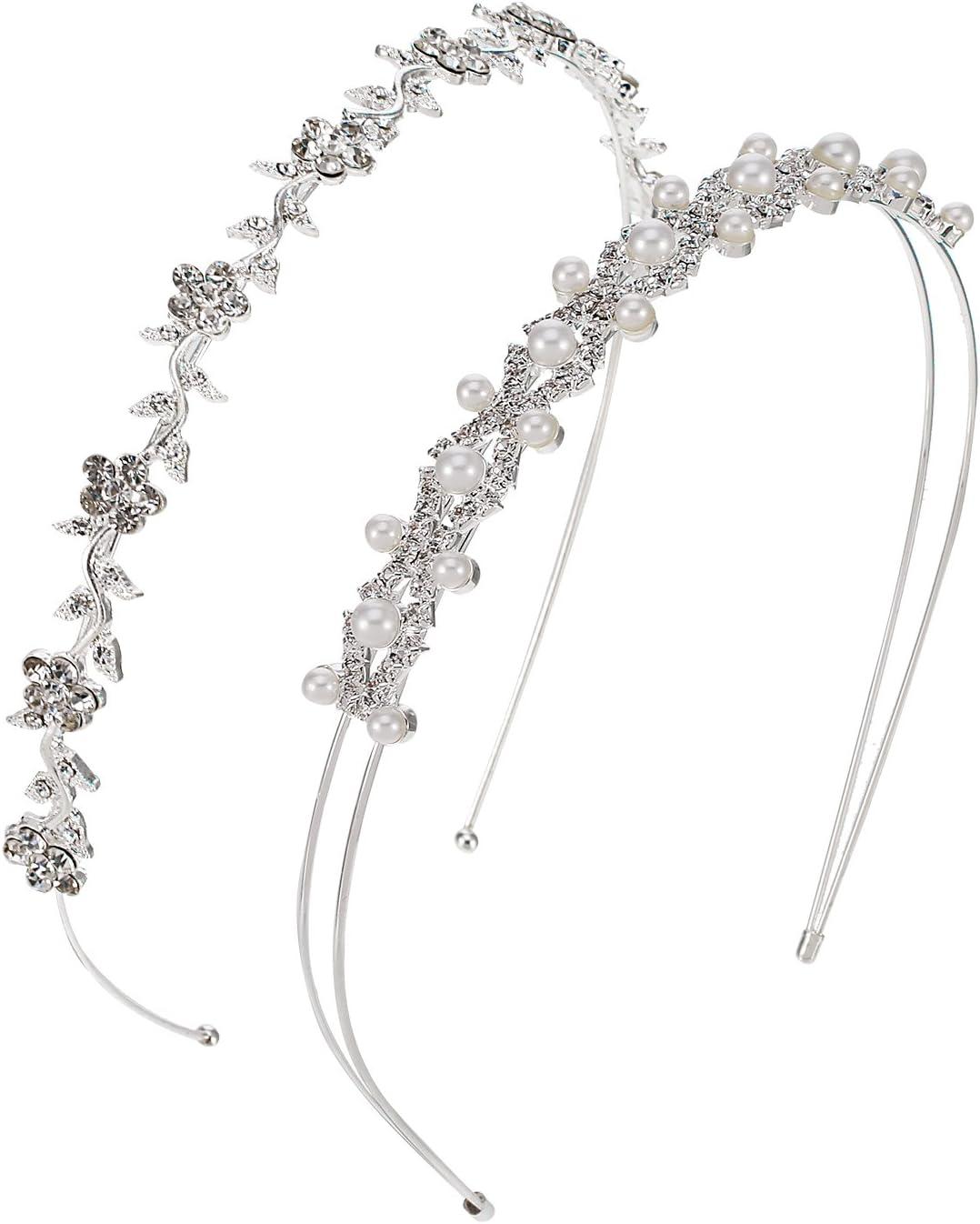 Tiara color argento con fiori su /& DIAMANTEE viene fornito su una fascia per capelli