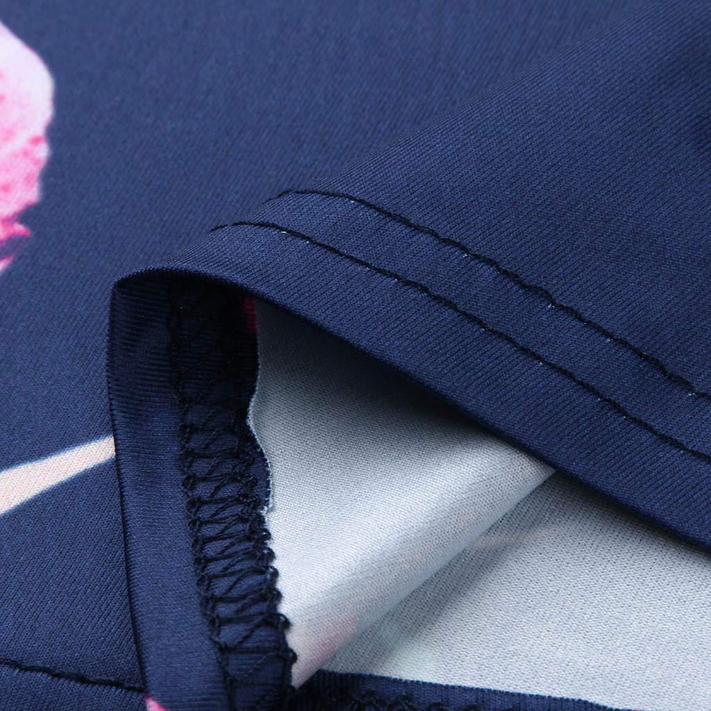 Mother Long Sleeve Nursing Dress Women Striped and Printed Stitching Breastfeeding Dress Maternity Knee-Length Dress