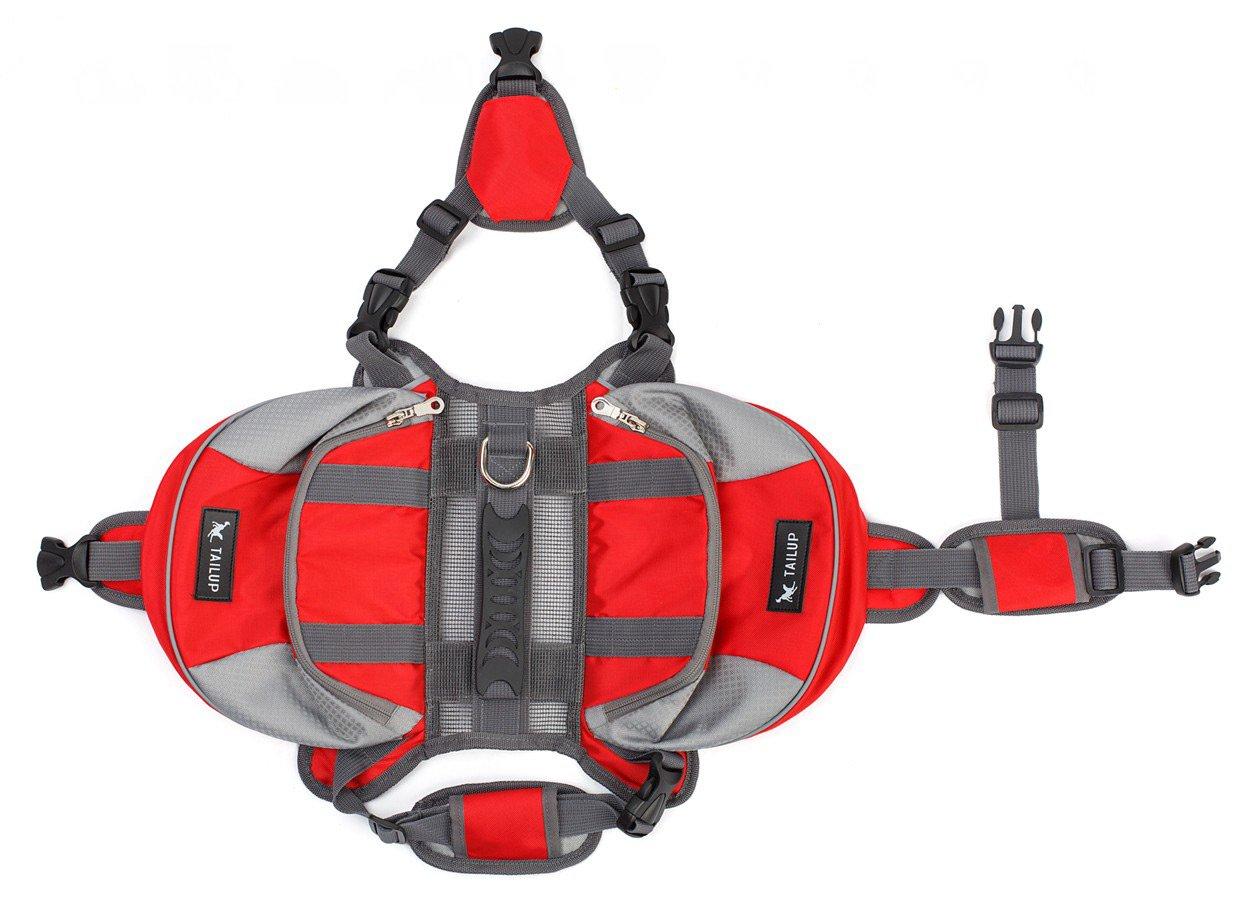 YLSing Dog Pack Hound Travel Camping Hiking Backpack Saddle Bag Rucksack for Medium & Large Dogs