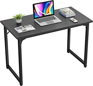 Homfio Computer Table 32 Inch Study Writing Home Office Desks, Modern Simple Sturdy PC Laptop Gaming Desk, Multi Usage Workstation Wood Work Table for Small Space, Easy to Assemble, Black