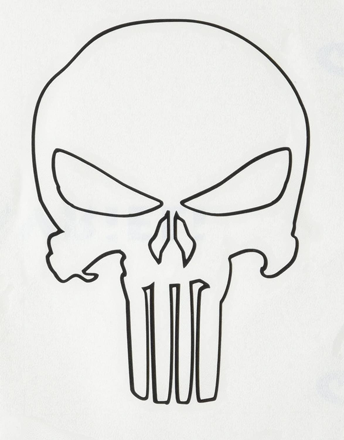 Punisher Skull Outline Related on Fall Coloring Pages