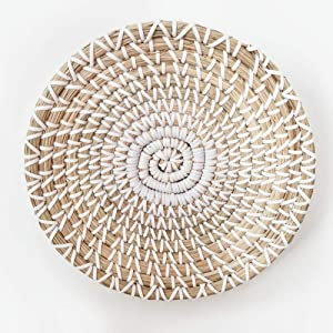 143 HEMBUK Multi-use Natural Seagrass Baskets | Handmade Woven Fruit Basket | Boho Decor Wall Hanging Basket | Decorative Bowl | Home Gifts for Friends and Family (Small)