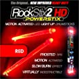 ROCKSTIX 2 HD RED, BRIGHT LED LIGHT UP DRUMSTICKS, with fade effect, Set your gig on fire! (RED ROCKSTIX)