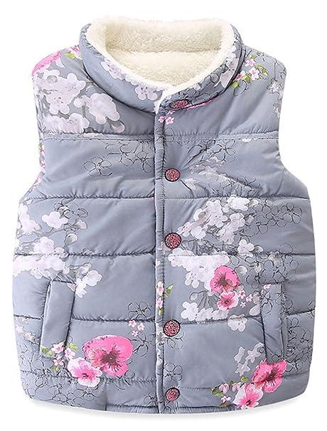 35d003ee9 Amazon.com  Baby Girls  Winter Cotton Vests Jackets Autumn Kids ...