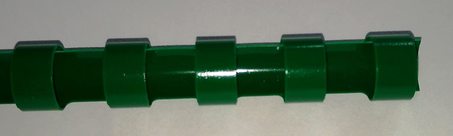 10mm Green Plastic Binding Comb 21 ring A4 65 pages (50) mTechie