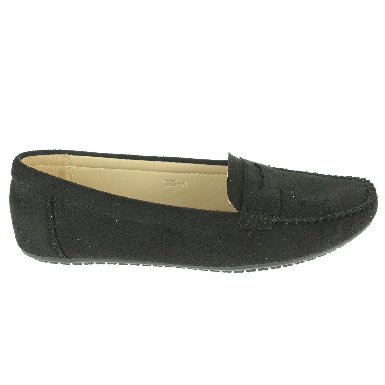 Mujer Señoras Comodidad Trabajo de Oficina Inteligente Ligero Mocasines Colegio Plano Bomba Negro Zapatos tamaño 36: Amazon.es: Zapatos y complementos