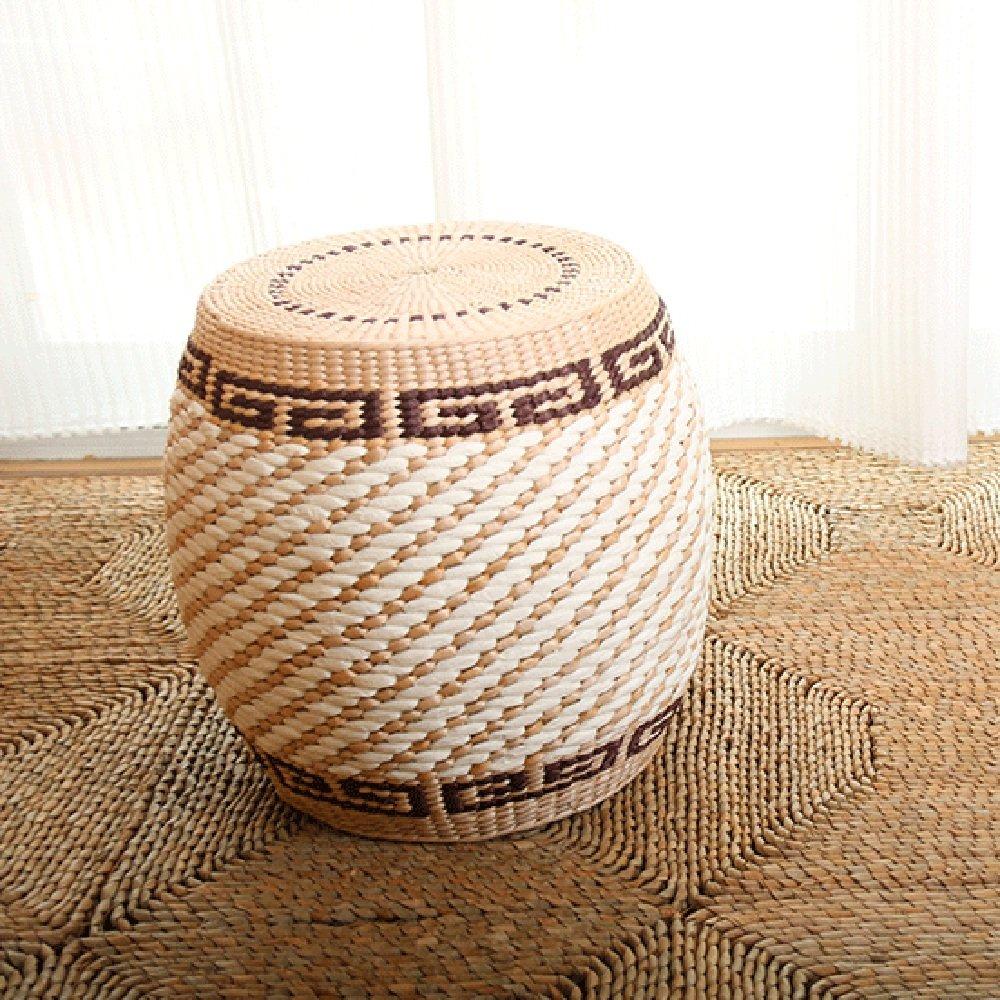 ZAYJD XRXY Natural Handmade Foot Stool/Solid Wood Frame Stool/Creative Living Room Sofa Stool