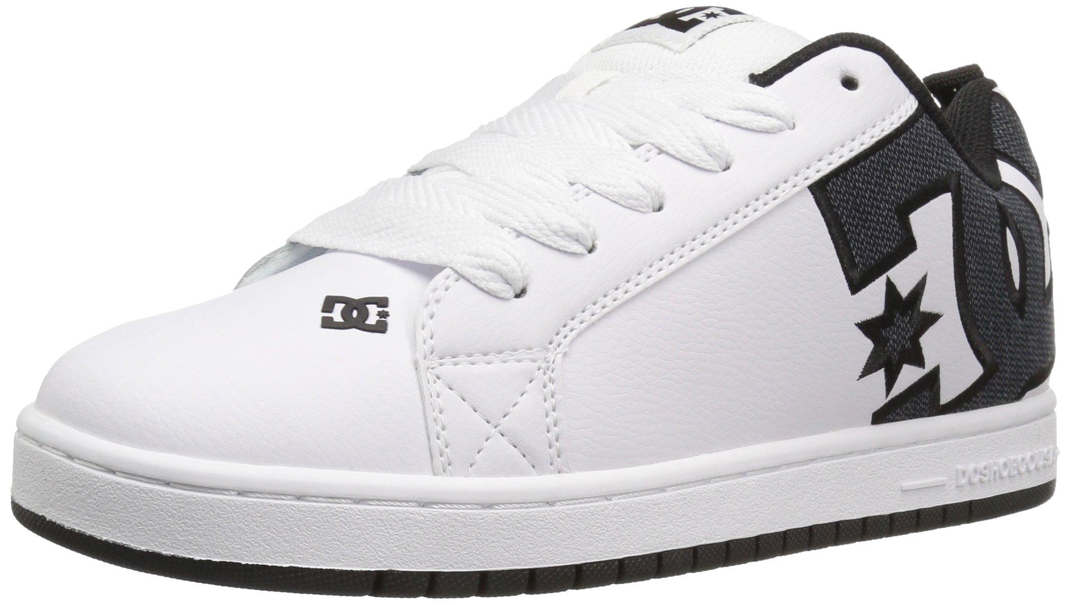 DC Men's Court Graffik SE Skate Shoe,White Smooth,6 D US