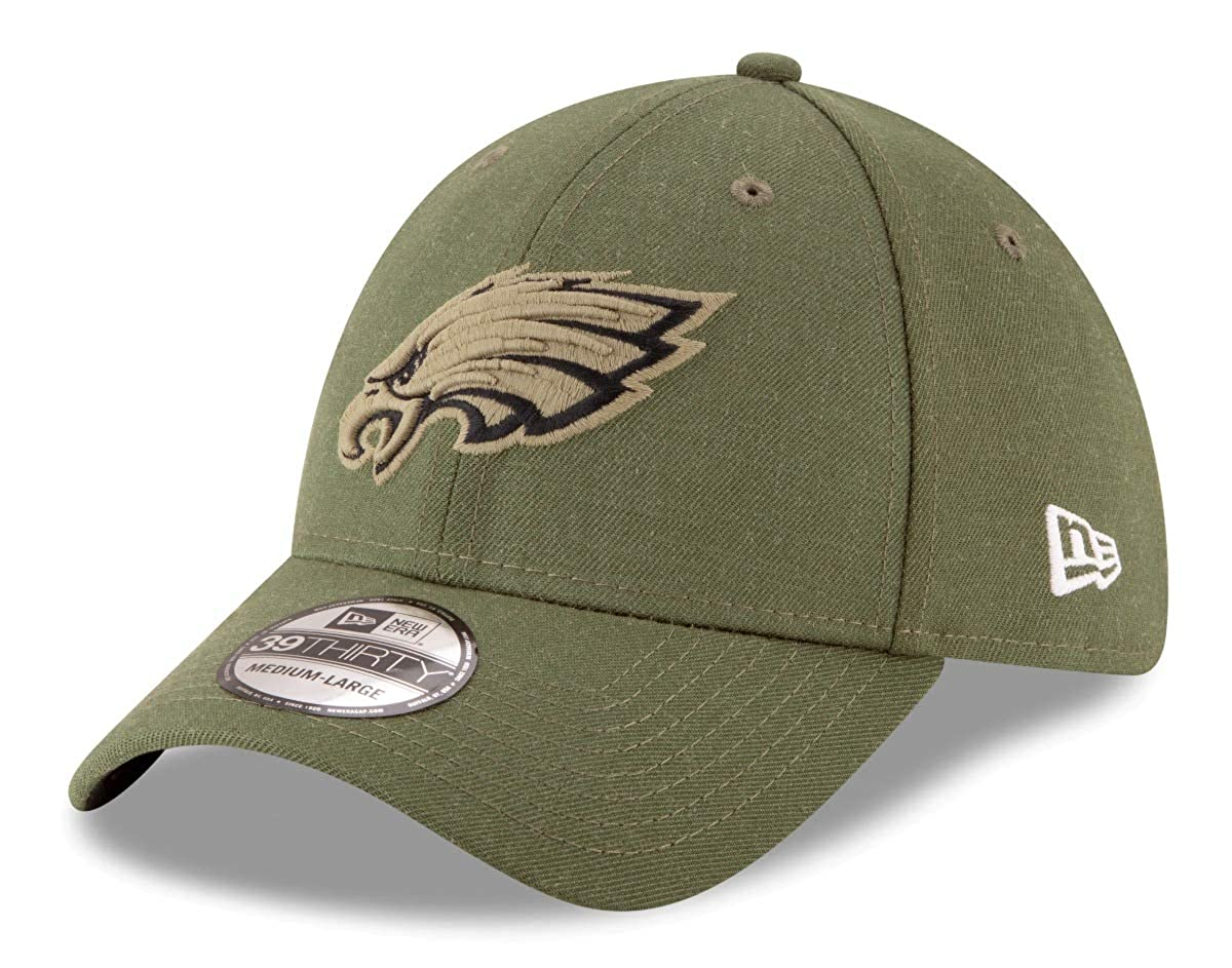 New Era Philadelphia Eagles 39thirty Stretch Cap on Field 2018 Salute to Service