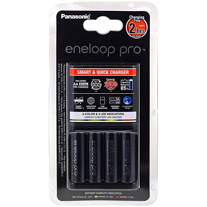 Cargador Panasonic eneloop BQ-CC16 incl. 4 uds. AA eneloop Pro ...