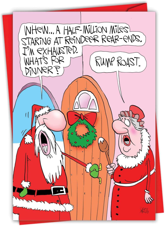 Rude Christmas Card ~  Spit Roast Lamb