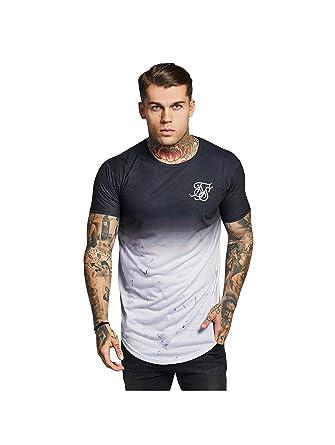 Sik Silk Hombre Camiseta Marble Fade, Negro, Small: Amazon.es: Ropa y accesorios
