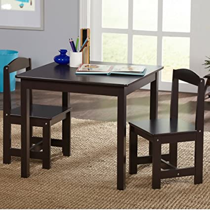 Kids Activity Table Set 3 In 1 Toddler Activity Table Set Chair Espresso Preschool  Activities Childrens