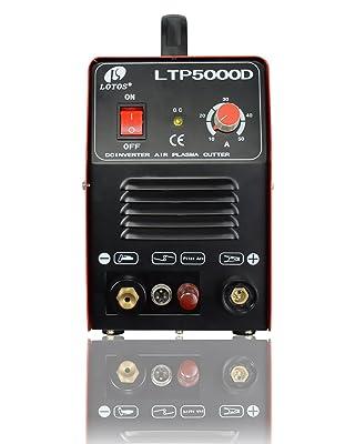 Lotos LTP5000D 50Amp Non-Touch Pilot Arc Plasma Cutter, Dual Vol