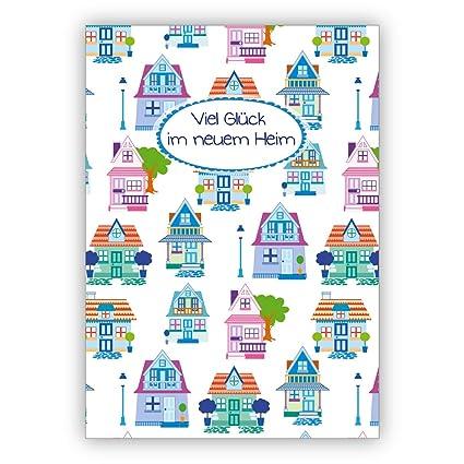 Grußkarten Set 10stk Nette Umzugskarte Glückwunsch Zum