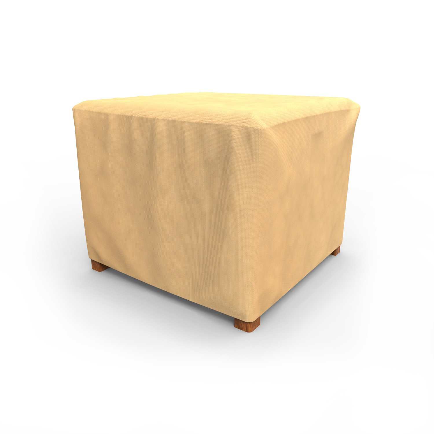 Budge All-Seasons Square Patio Table Cover / Ottoman Cover, Small (Tan)