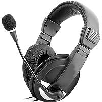 hanylish Audífonos Diadema Gamer Sonido Estéreo HD con Micrófono Omnidireccional, Control de Volumen, Diseño Ajustable…