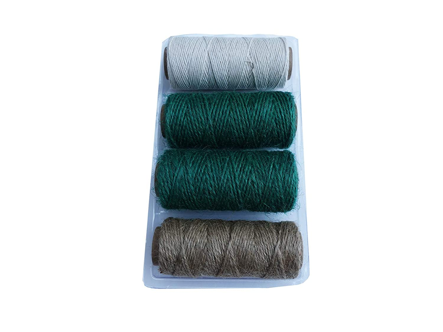 Qornerstone Garden Twine Spool Set Perfect for Gardening Heavy Duty 3-ply Etc Packing Gifts - Holds Approximately 115 feet of Twine Kole Arts /& Crafts All Natural Garden Twine//Rope//String