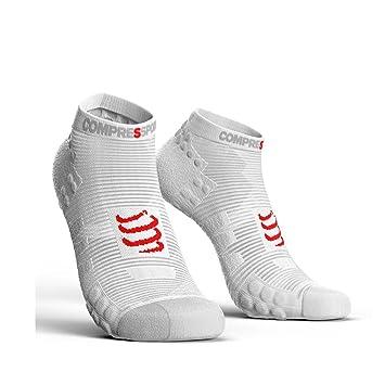 Compressport ProRacing Socks run low V3.0 smart white socks running ... 7770f71155b