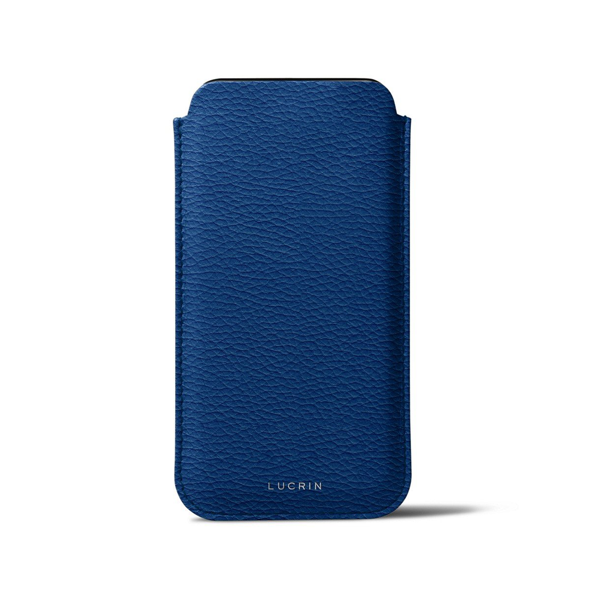 Lucrin - Classic Case for iPhone X - Royal Blue - Granulated Leather by Lucrin (Image #3)
