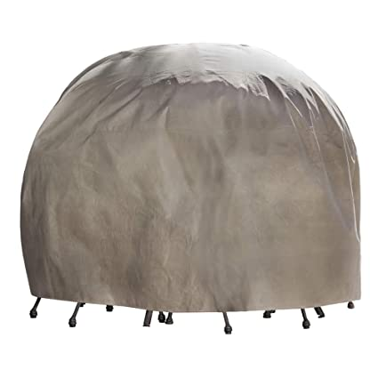 Duck Covers Mtr09090 Round Patio Table And Chair Set Cover With Duck Dome - Large