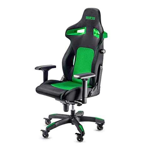 Sparco Gaming 00988 nrvd silla de Gaming, negro/verde