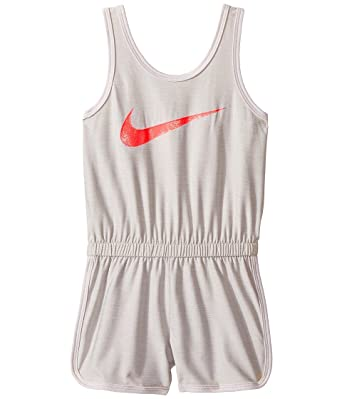 9a1a646e13c Image Unavailable. Image not available for. Color  Nike Kids Dri-Fit Sport  Essentials Romper Little Kids White Girls ...