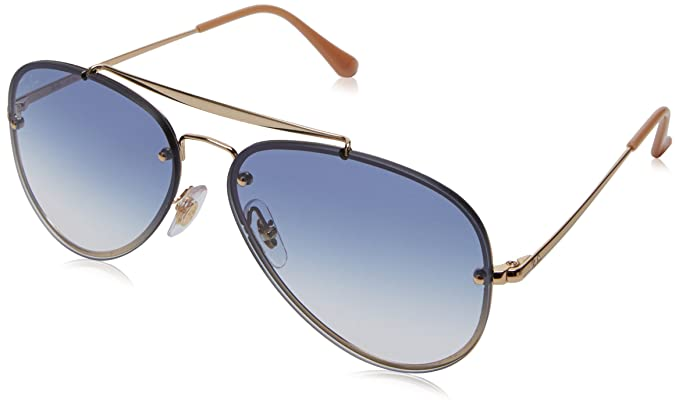 c5ab8610b RAYBAN Unisex's 0RB3584N 001/19 58 Sunglasses, Gold/Clear Gradient Light  Blue