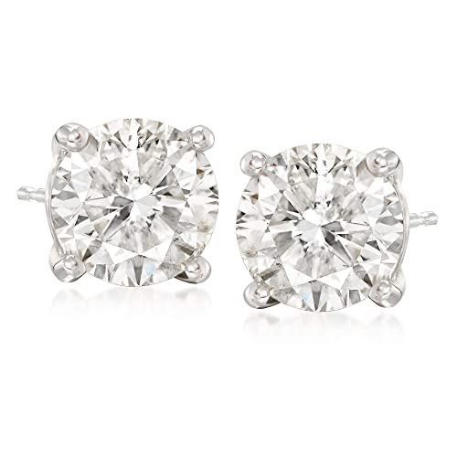 Ross-Simons 5.00 ct. t.w. CZ Stud Earrings in 14kt White Gold