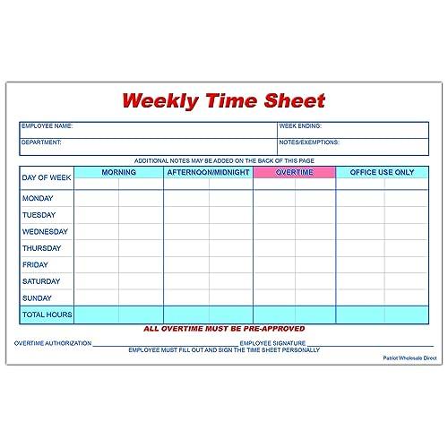 time sheets amazon com